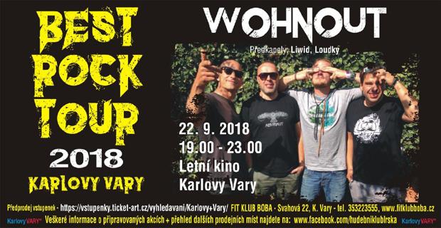 Populární Wohnouti uzavřou letošní Best Rock Tour Karlovy Vary